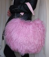 Large Shaggy Mongolian Lamb Fur Handbag